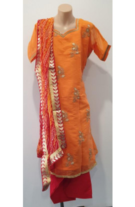 Semi Patiala Salwar Suit